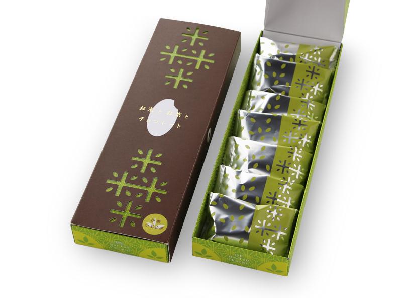 お米とお茶とチョコレート かぶせ茶 ※