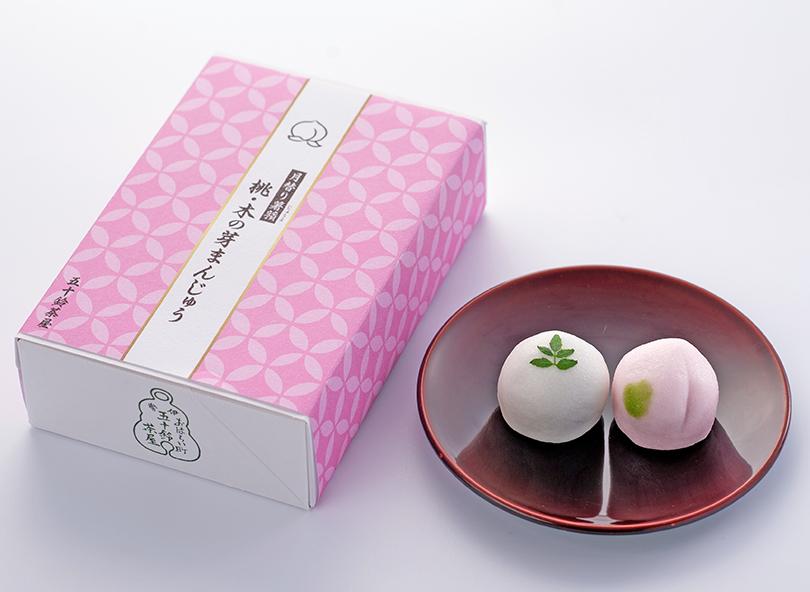 月替り薯蕷<水無月>桃・木の芽まんじゅう(6個入)※