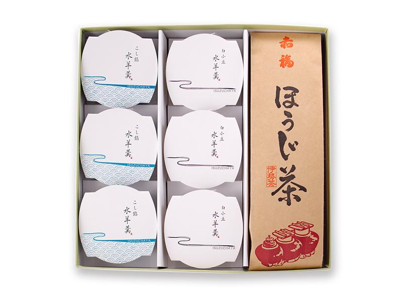 【夏ギフト】水羊羹・赤福ほうじ茶 詰合せ※(クール便)